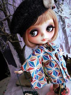 *:カスタム ブライス 着物 粋「Inase na Girl」モダン 大正ロマン 和装 帽子 Blythe:*_画像4 Blythe Dolls, Art Dolls, Doll Clothes, Disney Characters, Fictional Characters, Kimono, Auction, Kawaii, Japanese