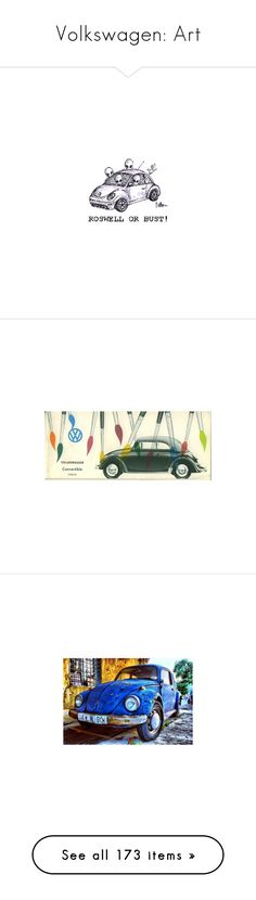 """""""Volkswagen: Art"""" by robinintherain ❤ liked on Polyvore featuring VDubFanClub, cars, dogs, car, backgrounds, pictures, hippie, images, home and home decor"""