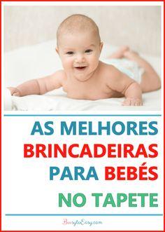 Brincadeiras e Atividades para bebés no tapete