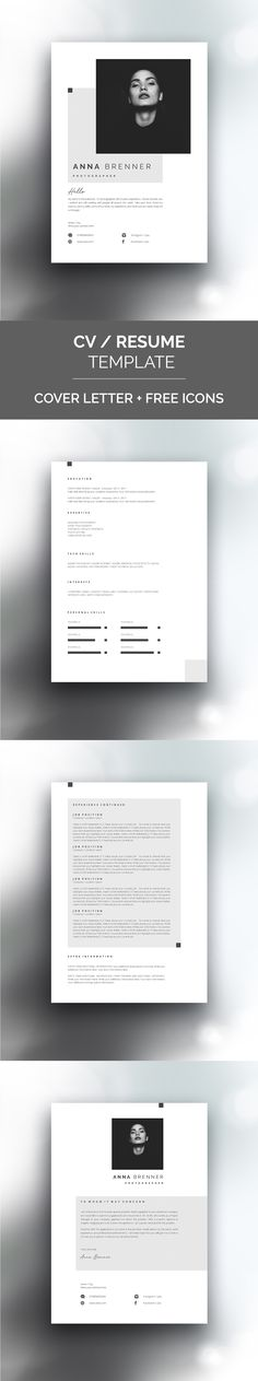 Minimal, clean page design. Template that will help you to start your dream career! 4 page design + cover letter + usage manual. Portfolio, self branding, presentation design Modern Resume Template, Cv Template, Resume Templates, Cv Inspiration, Logo Design Inspiration, Page Design, Cover Design, Layout Design, Design Creation