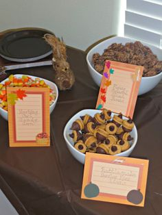 Woodland Creatures Birthday Party Food