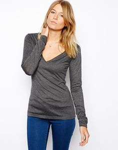 Enlarge ASOS Top with Long Sleeves and V Neck