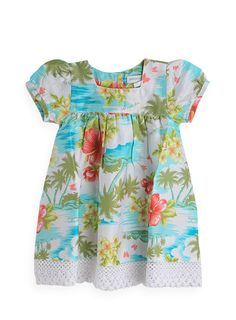 Pumpkin Patch - dress - hawaiian anglaise trim dress - S2BG80029 - peppermint - newborn to 12-18mths