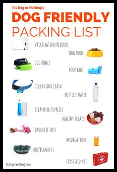 Dog Friendly Travel Packing List