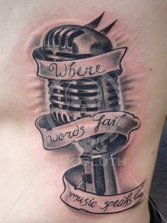 Where words fail music speaks (too big for me... But I want a tattoo that has something to do with music)