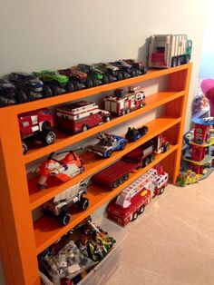 Hutsons playroom is like most kids I am sure, a disaster a majority of the time, and with cars and trucks everywhere, it is a hazard to j... - Kids Room Ideas