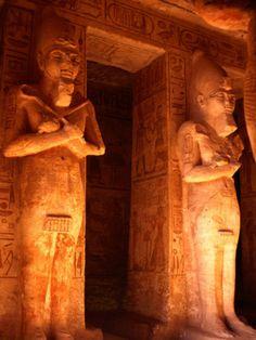 Statues of Ramesses Inside Hypostyle Hall, Abu Simbel, Egypt