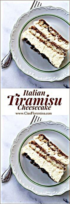 The Classic, Easy Italian Tiramisu Cheesecake for the Gods! No bake, no alcohol with just espresso and vanilla! Italian Tiramisu, Italian Desserts, Fun Desserts, Delicious Desserts, Dessert Recipes, Yummy Food, Tiramisu Cheesecake, Tiramisu Recipe, Cheesecake Recipes