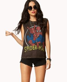 I'm really into Spiderman right now. Like the old school cartoon from 1967 :) And I am in need of a cute muscle shirt because I don't like wearing just tank tops when it's warm outside. A++! (Forever21)
