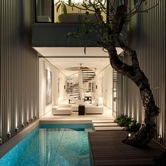 Best Ideas For Modern House Design & Architecture : – Picture : – Description Modern Pool Design by the Urbanist Lab Architecture Design, Architecture Interiors, Singapore Architecture, Water Architecture, Container Architecture, Creative Architecture, Building Architecture, Beautiful Architecture, Contemporary Architecture