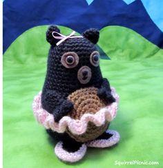 Tina Ballerina Bear free Crochet Pattern by Squirrel Picnic