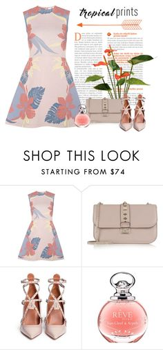 """""""Tropical"""" by conch-lady ❤ liked on Polyvore featuring Valentino, Van Cleef & Arpels, tropicalprints and hottropics"""