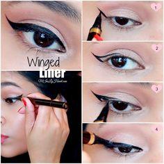 Winged Eyeliner Tutorial For Hooded Eyes   Video