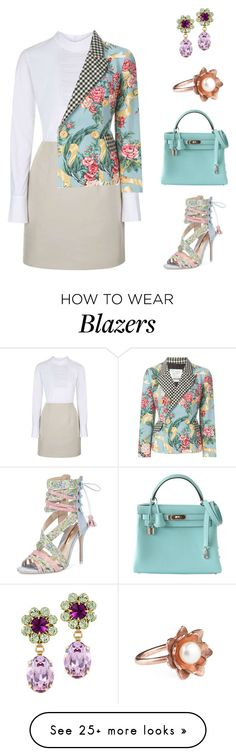 """""""Untitled #1251"""" by bushphawan on Polyvore featuring Unique, Moschino, Hermès, Otazu, Sophia Webster, Vicky Davies, women's clothing, women, female and woman"""