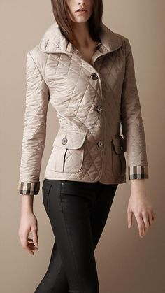 5841502b Can I have this jacket please?! Burberry Quilted Jacket, Classic Wardrobe,  Cozy