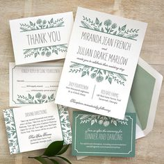 Summer Floral Wedding Invitations -- The Overwhelmed Bride Wedding Blog