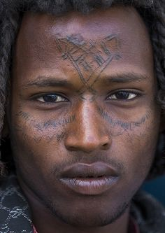 Afar Tribe Man With Curly Hair And Facial Tattoos, Assayta, Ethiopia | Flickr - Photo Sharing!