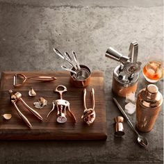 Copper Hammered Bar Tool Set | Williams-Sonoma