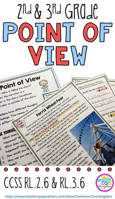 Are you looking for a way to teach your second and third graders about point of view? This packet of reading comprehension passages will help your and graders master Common Core Standard and Reading Comprehension Passages, Reading Fluency, Reading Intervention, Reading Strategies, Teaching Reading, Guided Reading, Guided Math, Close Reading, Reading Activities