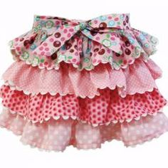 girls ruffle skirt idea...I bet I could figure this out??...