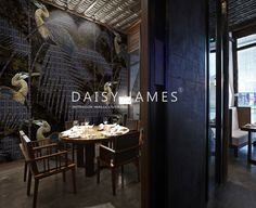 DAISY JAMES #Wallcovering #restaurant #interiordesign.