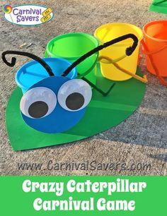 Crazy Caterpillar - Easy Spring School Carnival Game