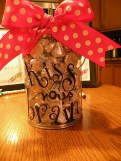 """""""kiss your brain"""" treats!  Totally doing this as my candy jar this year!"""