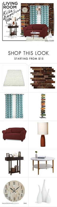 """plus som change for snacks ...."" by lindagama on Polyvore featuring interior, interiors, interior design, home, home decor, interior decorating, Artista, CB2, Sure Fit and Mitchell Gold + Bob Williams"