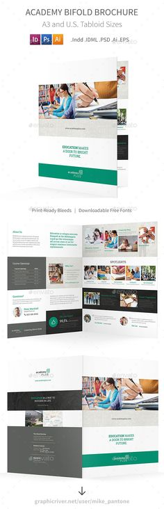 Annual Report Template Bundle - 1 Annual reports, Brochure - half fold brochure template