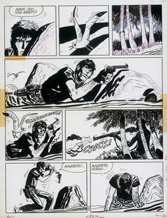 "katedrwecka: "" Big time inspiration: Hugo Pratt. A page from Corto Maltese """