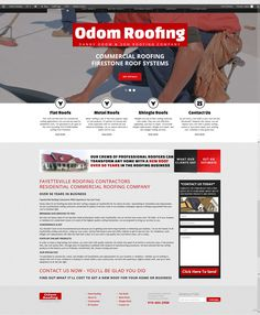 Great new site for Odom Roofing. Responsive an fully optimized for rankings and conversions.