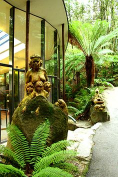 William Ricketts Sanctuary in Melbourne. Carving of aboriginal woman with three children. Adam Dinech The Grapevine.