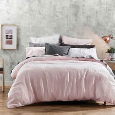We're tickled pink with our new Milano linen | now available in Blush #bedroom #bedbathntable #welovehomewares