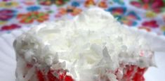 An easy Raspberry Zinger Poke Cake made with raspberry jello and coconut that tastes just Raspberry Zinger Cake, White Cake Mixes, How To Make Cake, Coconut, Snacks, Desserts, Easy, Recipes, Food