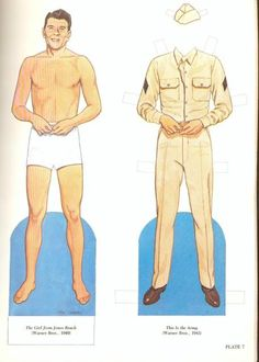 Ronald Reagan Paper Dolls by Tom Tierney - Dover Publications, Inc.,1989: Plate 7 (of 16)