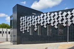 Abertillery Car Park, Gwent.  Black Glazed Fireborn 215 x 215 mm