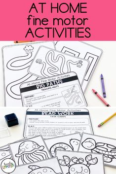 Are you trying to teach families with distance learning?Are you using take home packets during this school closure?Homeschooling and need some preschool activities?These At Home Fine Motor Activities are what you need! Gross Motor Activities, Preschool Learning Activities, Preschool Lesson Plans, Work Activities, Preschool Classroom, Parent Communication, School Closures, Student Learning, Fine Motor