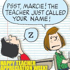 Happy Teacher Appreciation Week! :) #Peanuts