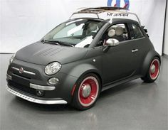 I know it's only a Fiat 500, but look at it.  Love the matte finish, and retro wheels.  Has it been chopped?