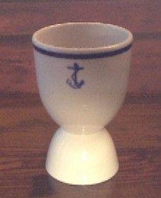 Nautical anchor egg cup
