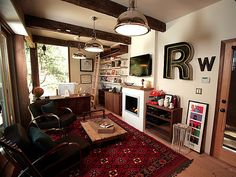 DIY Network show Man Caves redesigned home office.