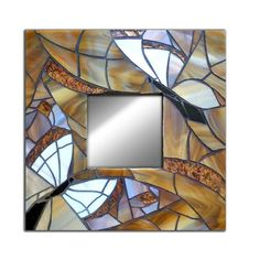 Handmade Butterfly Mirror, Butterfly Wall Mirror, Stained Glass butterfly mirror