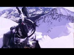 Close Call On Snowmobile