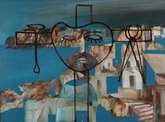 Crucifixion, painting by Sidney Nolan - From Watercolours to Decorative Arts - Culture Victoria Crucifixion Painting, Sidney Nolan, Japanese Ceramics, Australian Art, Asian Art, Art Decor, Contemporary Art, Backdrops, Art Gallery