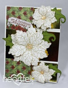Heartfelt Creations | White Poinsettia Tri-Shutter Card