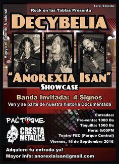 La agrupación venezolanade rock alternativo ANOREXIA ISANte invitan…