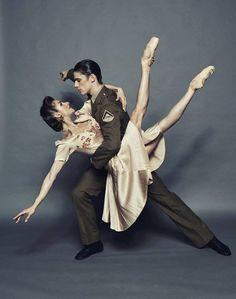 "Dancers, Laura Hidalgo and Vito Bernasconi. ""Lest We Forget"" Queensland Ballet. Photographer, Simon Leklas."