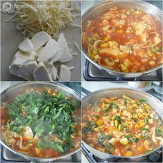 Lasaña vegetariana al sartén (lista en 25 minutos o menos) | http://www.pizcadesabor.com/2015/03/02/lasana-vegetariana-al-sarten/