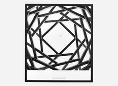 Ig0910 - Illustration m. ramme, Prospections 01, Anders Hvenegaard, Sort, 31x36 cm