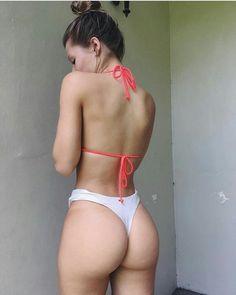 Brianna Yagos Big Nude Butt in Thong Bikini